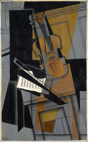 The Violin, 1916 (oil on panel)
