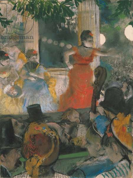 Cafe Concert at Les Ambassadeurs, 1876-77 (pastel on paper)