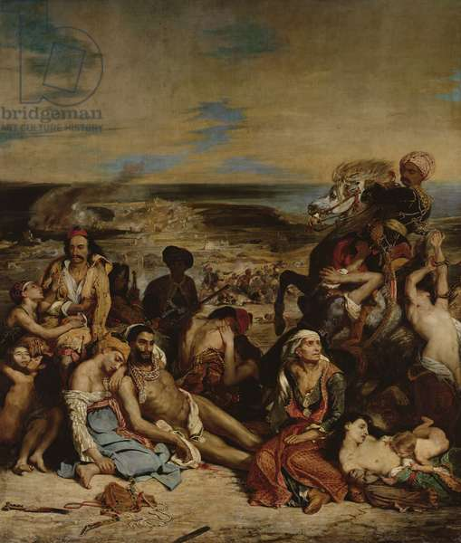Scenes from the Massacre of Chios, 1822 (oil on canvas)
