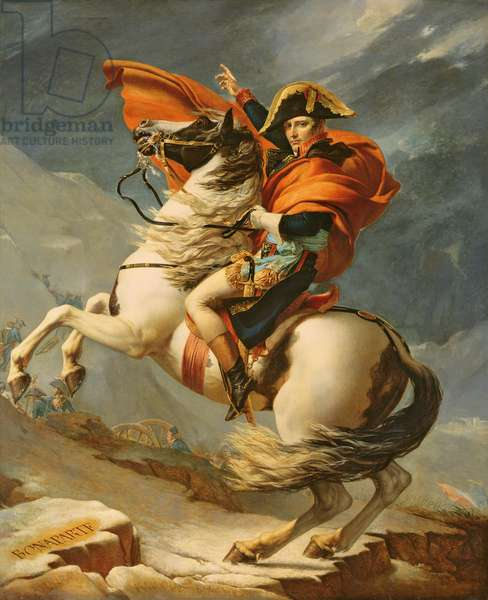 Napoleon Crossing the Alps on 20th May 1800, 1803 (oil on canvas) (see 184124 for detail)