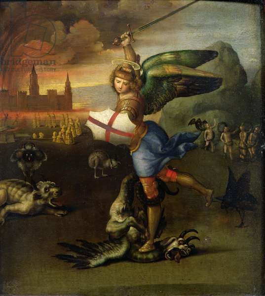 St. Michael, c.1503-05 (oil on panel) (see also 15971)