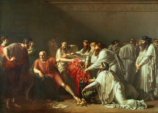 Hippocrates (c.460-c.377 BC) Refusing the Gifts of Artaxerxes I (d.425 BC) 1792 (oil on canvas)