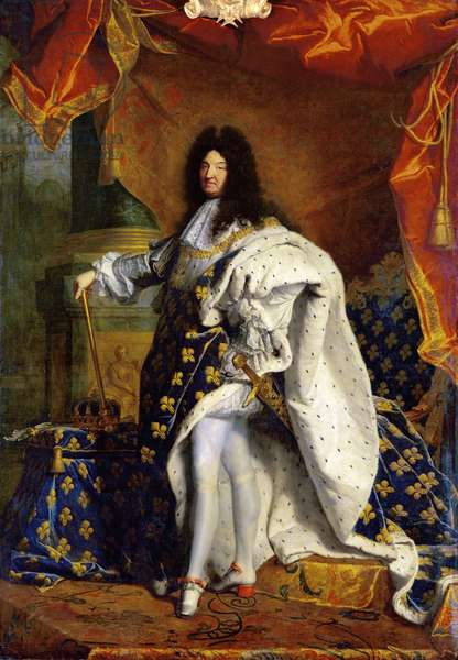 Louis XIV in Royal Costume, 1701 (oil on canvas)