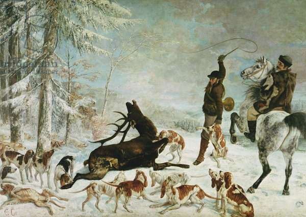 The Death of the Deer, 1867 (oil on canvas)