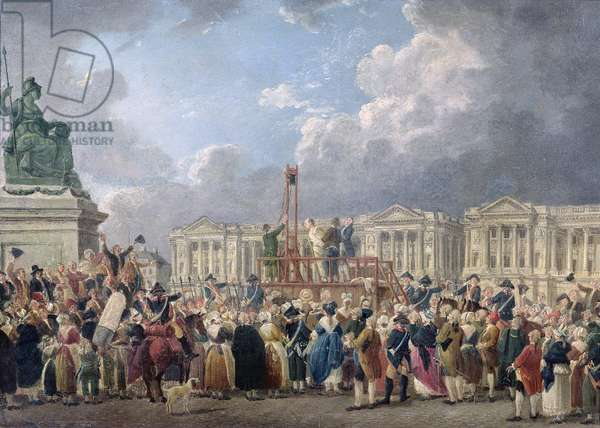 An Execution, Place de la Revolution, between August 1793 and June 1794 (oil on canvas)