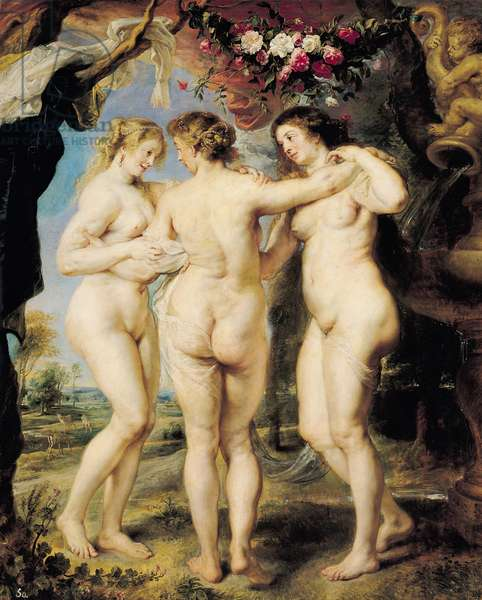 The Three Graces, c.1636-39 (oil on canvas)
