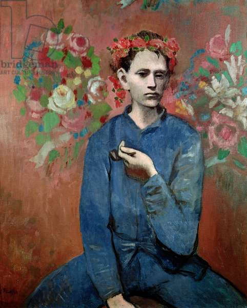 Boy with a Pipe, 1905 (oil on canvas)