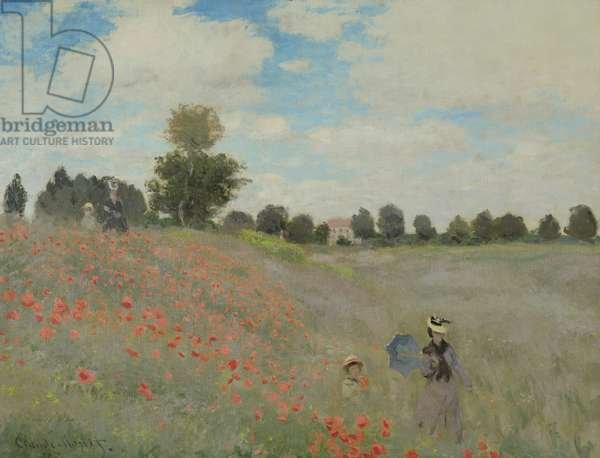 Wild Poppies, near Argenteuil (Les Coquelicots: environs d'Argenteuil), 1873 (oil on canvas)