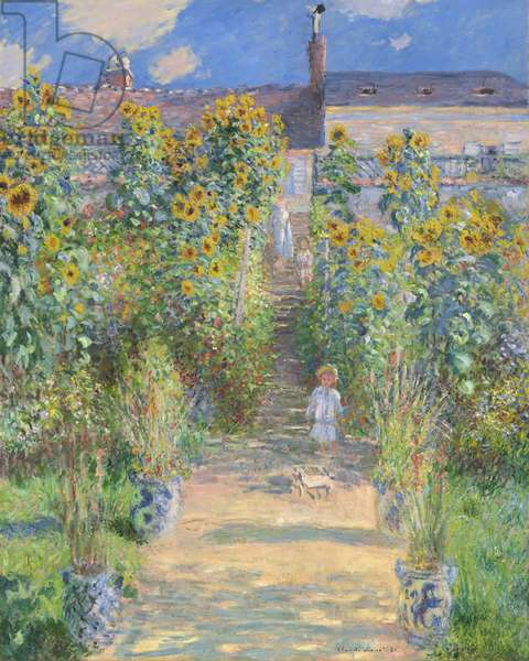 The Artist's Garden at Vetheuil, 1880 (oil on canvas)