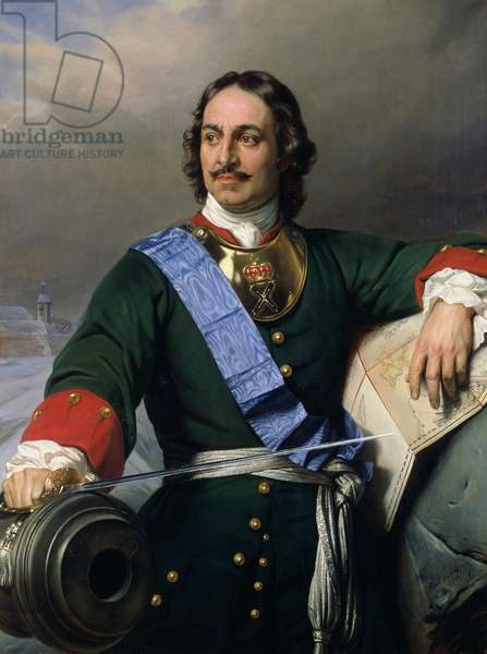 Peter I the Great (1672-1725) 1838 (oil on canvas) (see also 144528)