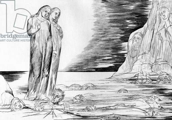 Bocca Degli Abati in the Lake of Ice by William Blake