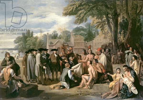 William Penn's Treaty with the Indians in November 1683, 1771-72 (oil on canvas)