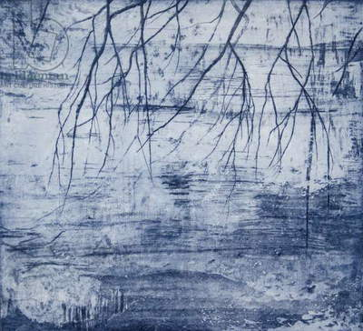 Water, Benmore, 2015, (etching)