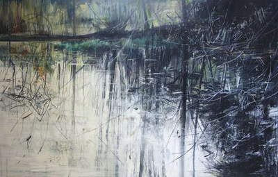 Outflow, Mellerstain, 2012, (oil on board)