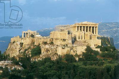 The Parthenon, the Proylaea and the Erechtheum, Athens, built in the 5th century BC (photo)