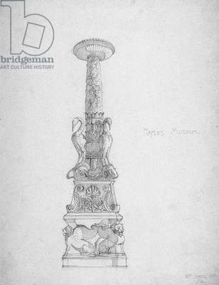 Candlestick (?), Naples Museum, 1891 (pencil on paper)