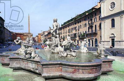 Piazza Navona: Topographic Views, 1994 (photo)