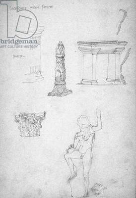 Sketches from Pompeii, 1891 (pencil on paper)