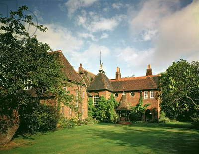 View of the exterior of The Red House, Bexleyheath, designed by William Morris (1834-96) with Philip Webb as the architect, completed 1859 (photo)