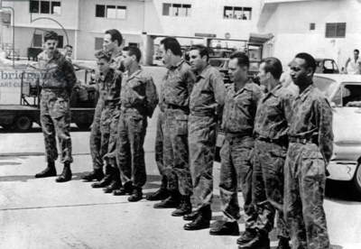 Ten veterans of the failed Bay of Pigs Invasion were returned to the U.S. by the Castro government in May 1961. Fidel Castro proposed to exchange the other prisoners for 500 large farm tractors, valued at US $28 million. Instead, the U.S. agreed to a ransom of $53 million in food and medical supplies, donated by U.S. private companies.