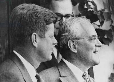 CIA Director Allen Dulles (right) with President-elect John F. Kennedy in 1960. Kennedy decided to keep Dulles in his CIA position, but after the failed Bay of Pigs invasion, Dulles was forced to resign in Nov. 1961