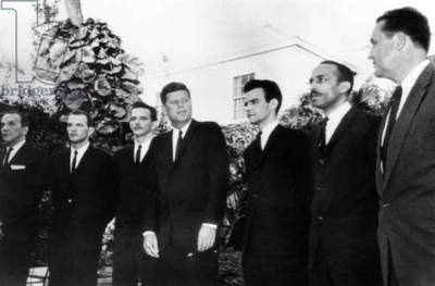 President John Kennedy with Cuban leaders of the failed Bay of Pigs Invasion, 1962