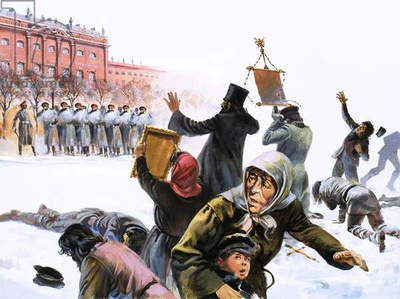 Scene from Russian Revolution of 1905