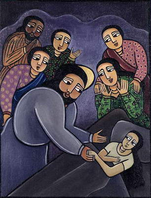 Christ Healing the Sick (acrlic on canvas)