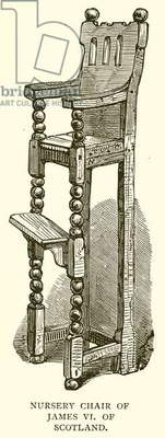Nursery Chair of James VI of Scotland (engraving)