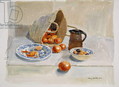 Oranges and Leach Jug, 2011 (w/c on paper)