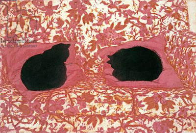 Cats, 1988 (etching on paper)