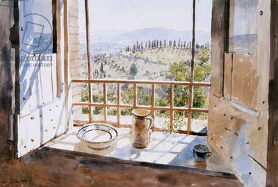 View from a Window, 1988 (w/c on paper)