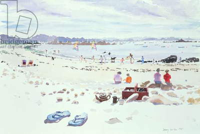 Cobo Bay, Guernsey, 1987 (w/c on paper)