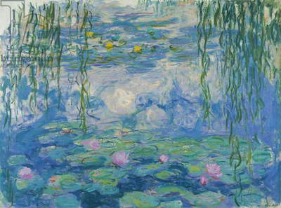 Waterlilies, 1916-19 (oil on canvas) (see also detail 382331)
