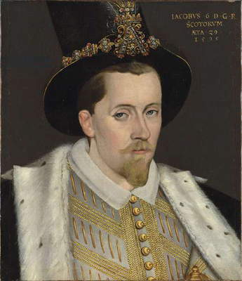 Portrait of James VI, 1595 (oil on canvas)