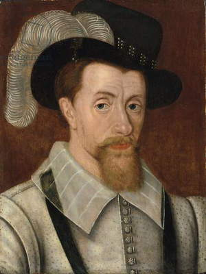 Portrait of King James I (oil on panel)