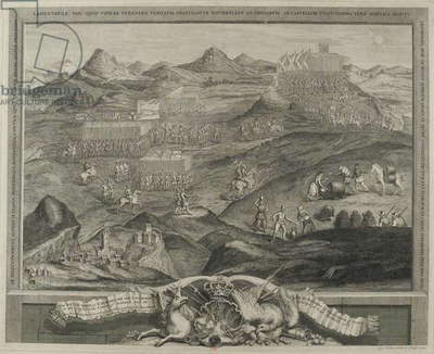 The Battle Array of Carberry Hill near Edinburgh in 1567, c.1738 (coloured engraving)