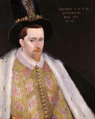 James VI of Scotland and I of England and Ireland (1566-1625), 1585 (panel)