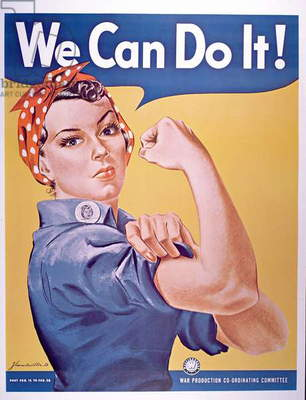 'We can do it!', World War Two poster, c.1942 (colour litho)