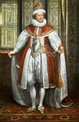 James I, c.1620 (oil on canvas)