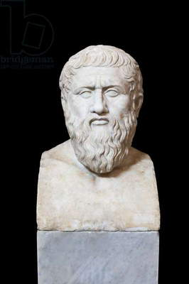 Portrait of Plato, first AD, Vatican museums, Rome, Italy