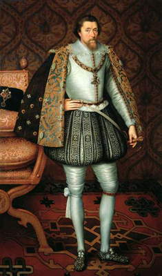 King James I of England (1566-1625) (oil on canvas)