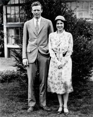 Charles Lindbergh and his wife Ann Morrow Lindbergh in 1929 after their wedding
