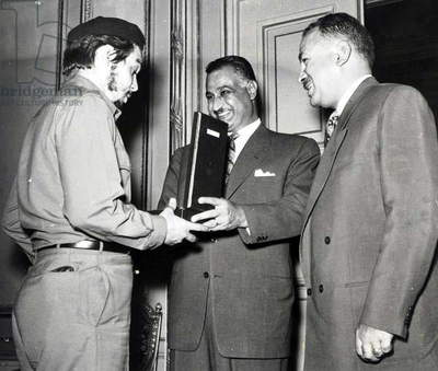 Che Guevara with Gamal Abdul Nasser