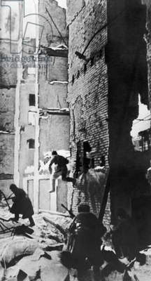 A Street Fight In Stalingrad During The Battle Of Stalingrad