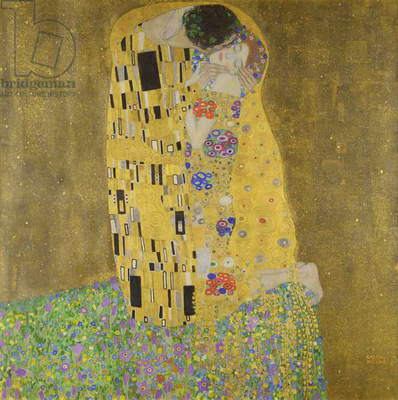 The Kiss, 1907-08 (oil on canvas)
