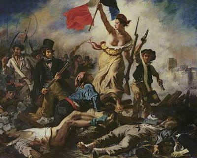 Liberty Leading the People, 28 July 1830, c.1830-31 (oil on canvas) (for detail see 95120)