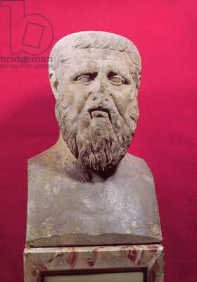 Bust of Plato (c.427-347 BC) copy of a 4th century BC original (marble)