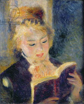 Girl Reading, 1874 (oil on canvas)