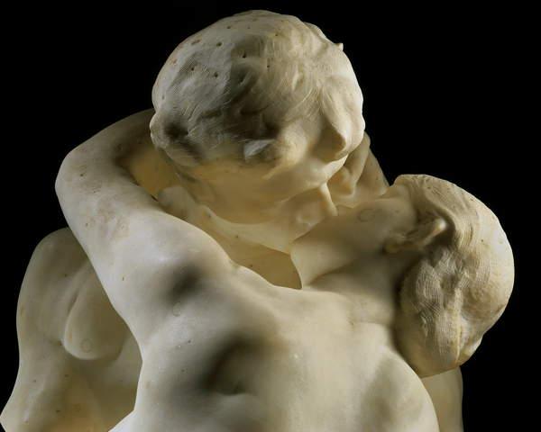 "Image of ""The Kiss"" (detail) 1888-1889 (marble), Musee Rodin, Paris, France, Sculpture, © Bridgeman Images"